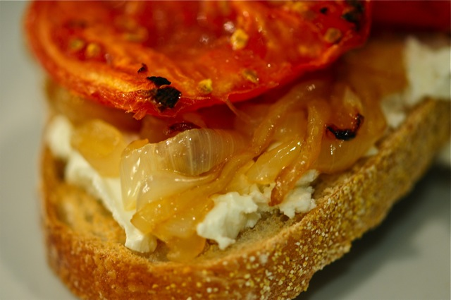 TOMATO, ONION, and GOAT CHEESE SANDWICHES – Atlantis Home